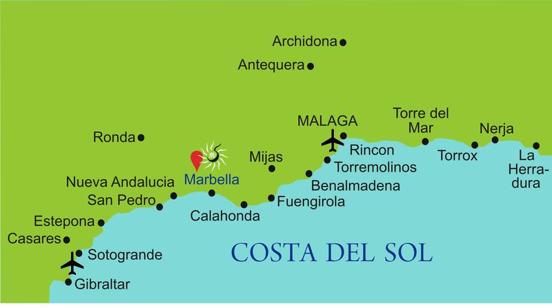 Mapa De Andalucia Costa Del Sol.Rutas De Navegacion Desde Malaga A Gibraltar Blog